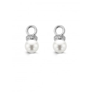 Ti Sento Round Pearl Earrings