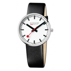 Black Strap White Dial Watch