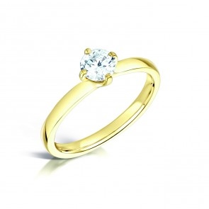 Yellow Gold 0.46ct Diamond Ring