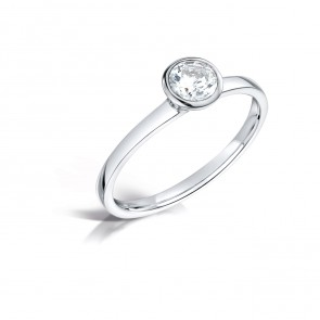 18ct White Gold 0.18ct Diamond Ring