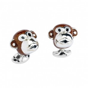 Monkey Head Cufflinks
