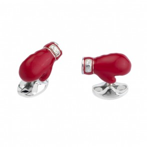 Silver Boxing Glove Cufflinks