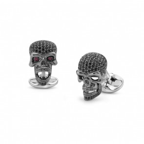 Black Spinel Skull Cufflinks