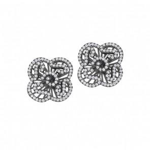 Cascade Mini Earrings in Black Rhodium Vermeil