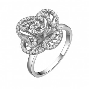 Cascade Mini Ring in Rhodium Vermeil