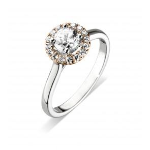 Platinum 0.16ct Diamond Halo Ring