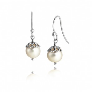 Emma-Kate Drop Earrings in Silver