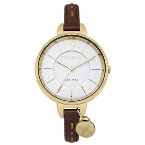 Brown Leather Strap White Dial Watch