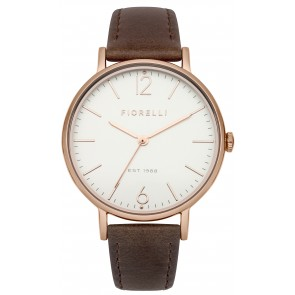 Dark Brown Leather Strap Watch