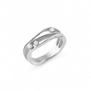AnnaMaria Cammilli Dune 18 Carat White Gold and Diamond 2 Band Ring