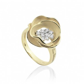 AnnaMaria Cammilli Dune 18 Carat Gold and Diamond Ring