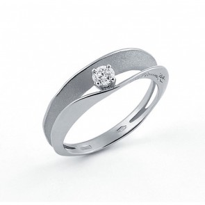 AnnaMaria Cammilli Dune 18 Carat White Gold and Diamond Ring