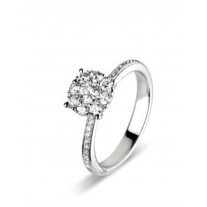 0.44ct Diamond Cluster Ring