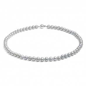 Classic Silver Freshwater Pearl Necklace