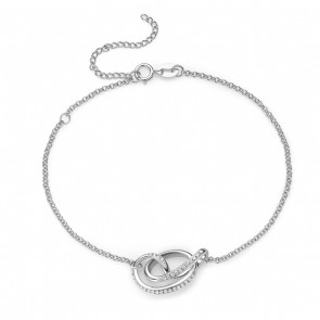 Serenity Rhodium Bracelet with Stones