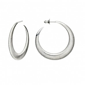 Silver  Medium Plain Hoops