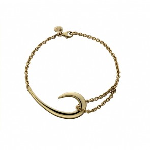Silver And Gold Plate Hook Bracelet