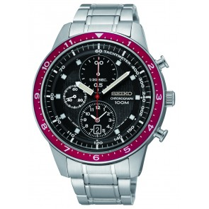 Black Dial Seiko Chrono Watch
