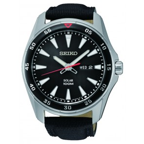 Black Dial Seiko Watch