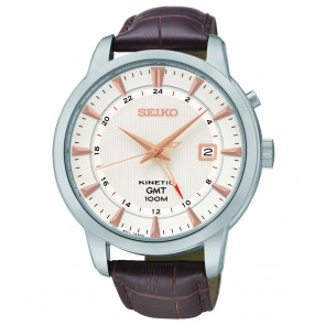 Seiko Kinetic - Leather Strap Watch