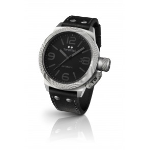 TW Steel Canteen - Black Strap (Steel Dial)