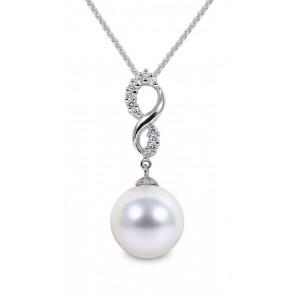 Yoko Pearl Pendant 18ct White Gold