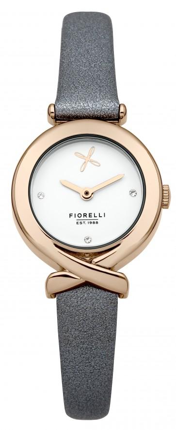 Light Blue/Grey Leather Fiorelli Watch
