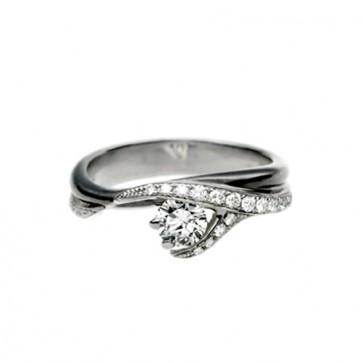Platinum and Diamond Pave Set Vine Ring
