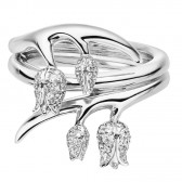 18ct White Gold Ring With 4 White Diamond Maybells