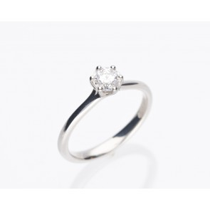 0.51ct Platinum Solitaire Diamond Ring