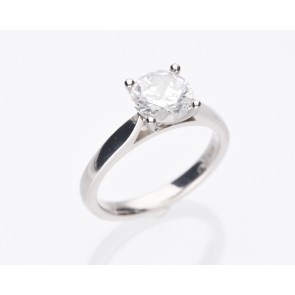 Solitaire 1.57ct Platinum Ring