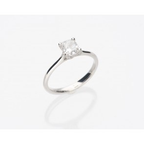 Platinum 1.02ct Cushion Cut Ring