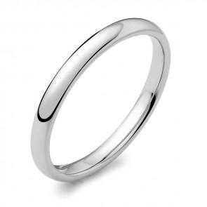 Platinum 2mm Court Wedding Ring