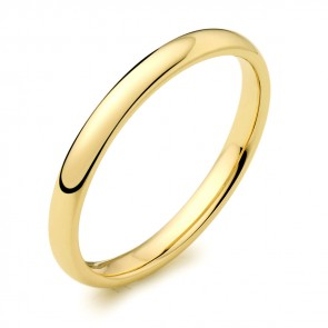 18ct Yellow Gold 2mm Wedding Band