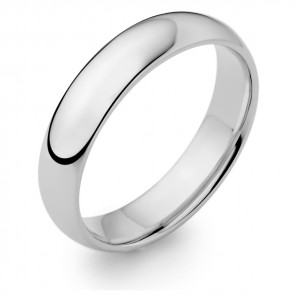 18ct White Gold Gent's Wedding Ring