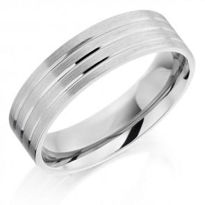 6mm Palladium Wedding Ring