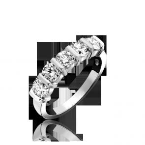 Platinum 1.01ct Diamond 5 Stone Ring