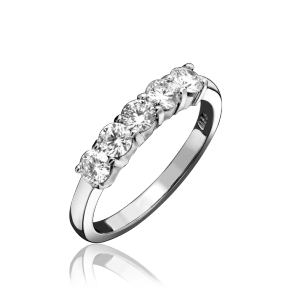 Platinum 0.77ct Diamond 5 Stone Ring