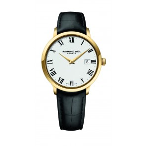 Toccata - Yellow Gold Black Strap