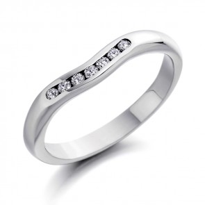 18ct White Gold 7 Stone Wedding Ring