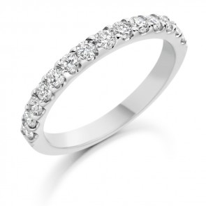 Platinum 14stone 0.70ct Diamond Wedding Ring