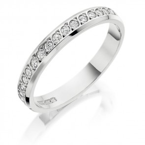 18ct White Gold 3mm Diamond Ring