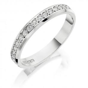 18ct White Gold 3mm Diamond Ring