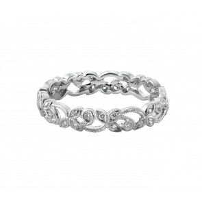 18ct White Gold Mini Floral Diamond Ring
