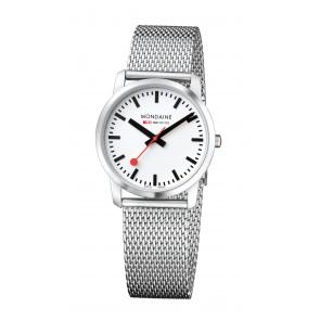 Mondaine - White Faced Steel Watch