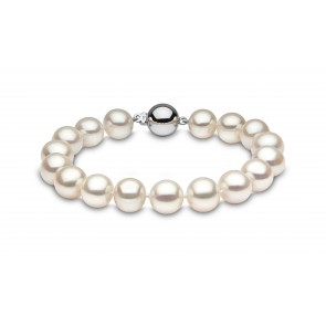 18ct White Gold - 10-11mm Pearl Bracelet
