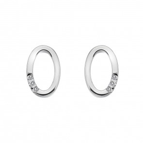 Halo Oval Earrings