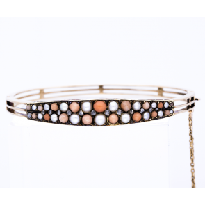 Coral & Pearl Bangle