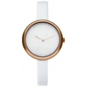 White Leather & Dial Watch