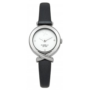 Black Leather Fiorelli Lady's Watch